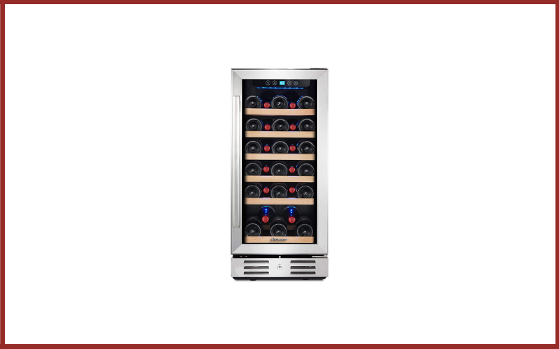 """Kalamera 15"""" Wine Cooler 30 Bottle Built-in or Freestanding with Stainless Steel and Double-Layer Tempered Glass Door and Temperature Memory Function Review"""