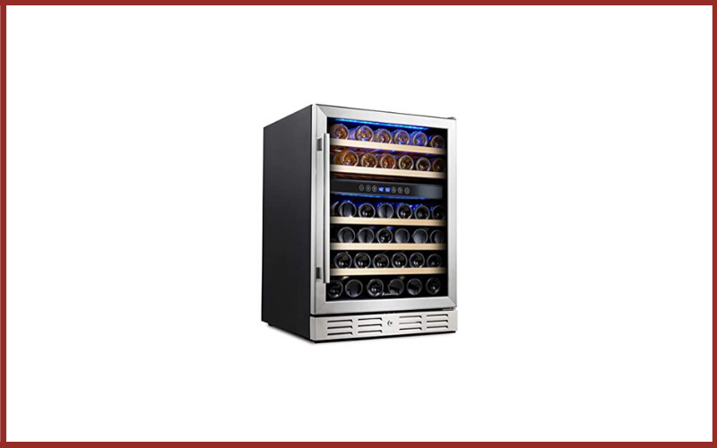 """Kalamera KRC-46DZB 24"""" Wine Refrigerator 46 Bottle Dual Zone Built-in or Freestanding with Stainless Steel and Triple-Layer Tempered Glass Door and Temperature Memory Function Review"""