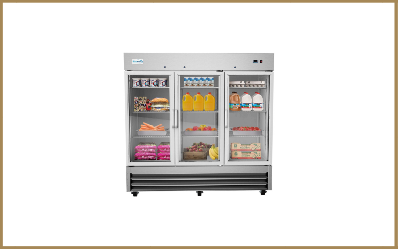 KoolMore Stainless Steel Glass Three Door Commercial Reach-In Refrigerator Review