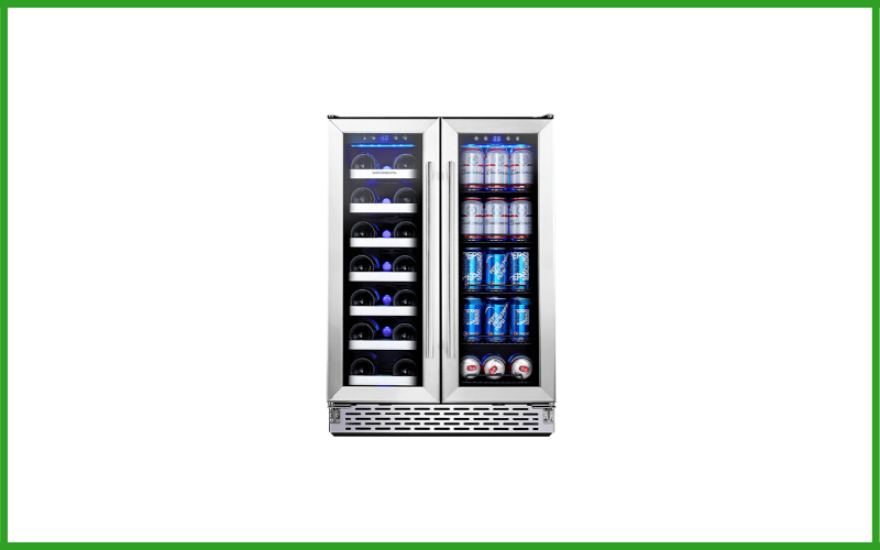 Phiestina PH-150BCW3L Wine and Beverage Refrigerator 24 Inch Built-In Dual Zone Wine Beer Cooler Refrigerator Review