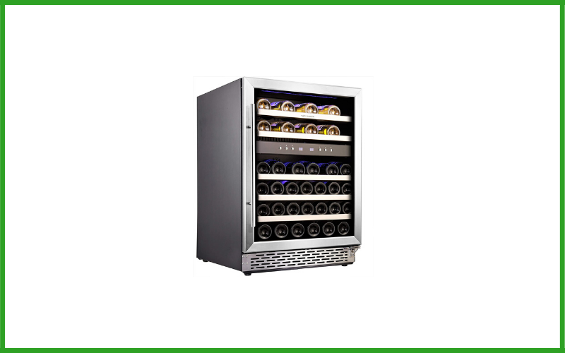 Phiestina PH-46BD3L 46 Bottle Wine Cooler 24 Inch Dual Zone Built-in or Freestanding Wine Refrigerator with Compressor Cooling System Review