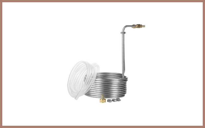 25 Foot Stainless Steel Immersion Wort Chiller Review