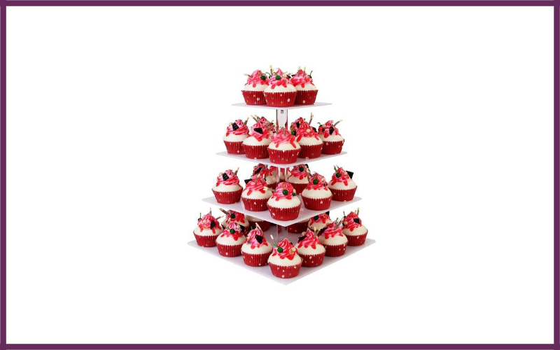 4 Tier Square Cupcake Stand By Yestbuy Review