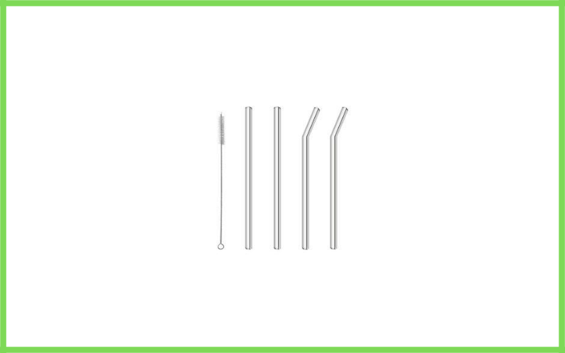 Glass Straws Drinking Reusable Straw 4 Pack With Cleaning Brush By Abfive Review