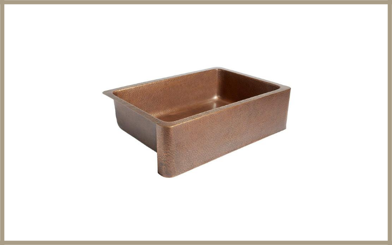 Adams Farmhouse Apron Front Handmade Copper Kitchen Sink 33 In Single Bowl In Antique Copper By Sinkology Review