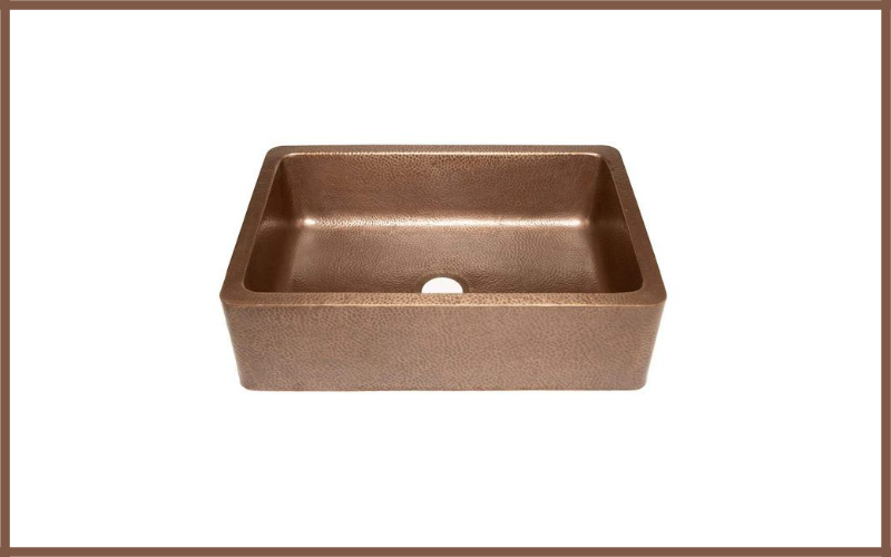 Adams Farmhouse Apron Front Handmade Copper Kitchen Sink 33 Single Bowl In Antique Copper By Sinkology Review