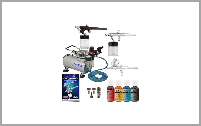 Airbrush Cake Decorating Kit With Airbrushes And Air Compressor By Master Airbrush Review