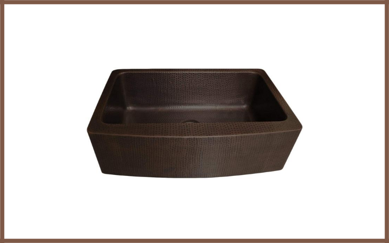 Antica Farmhouse Apron Front Copper Kitchen Sink Single Bowl By Zuhne Review