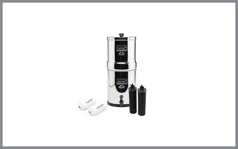 Big Berkey Bk4x2 Countertop Water Filter System With 2 Black Berkey Elements And 2 Fluoride Filters Review
