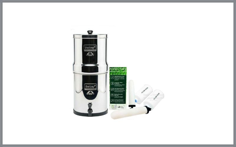 Big Berkey Water Filter System With 2 9 Inch White Ceramic Filters And 2 Pf 4 Fluoride Filters Review