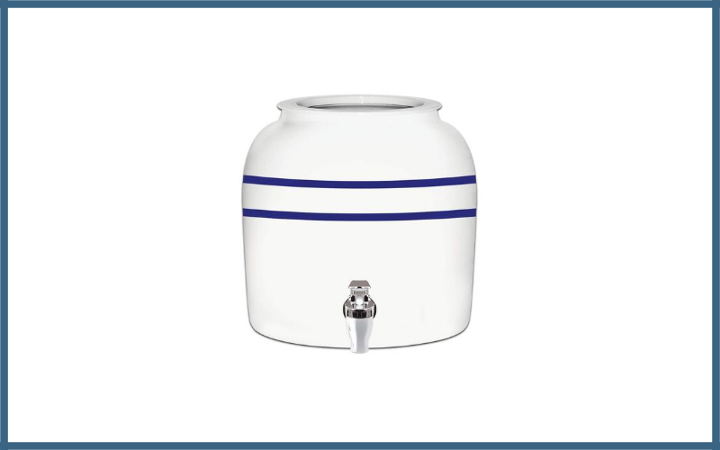 Brio Striped Porcelain Ceramic Water Dispenser Crock With Faucet Review