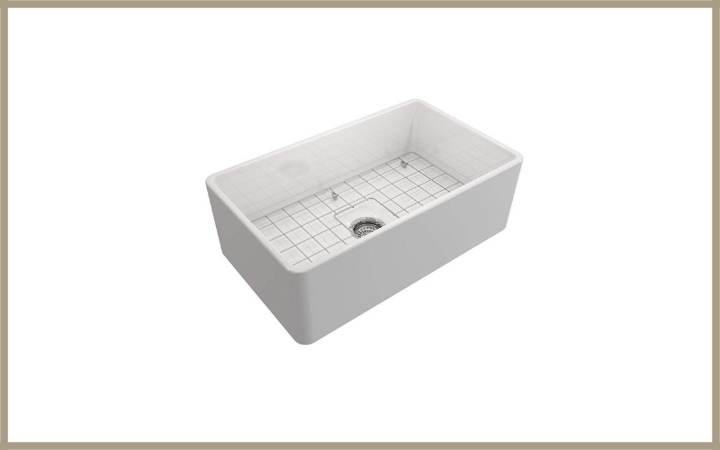 Classico Farmhouse Apron Front Fireclay 30 In Single Bowl Kitchen Sink With Protective Bottom Grid And Strainer In White By Bocchi Review