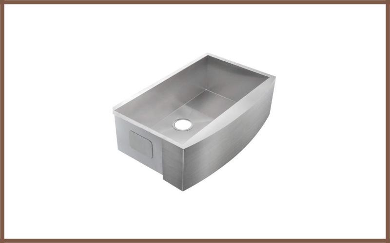 Comllen 36 Inch Handmade Apron Single Bowls 16 Gauge Stainless Steel Undermount Farmhouse Sink Review