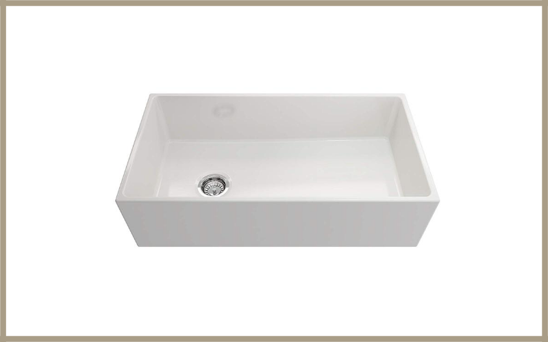 Contempo Farmhouse Apron Front Fireclay 36 In Single Bowl Kitchen Sink With Protective Bottom Grid And Strainer In White By Bocchi Review