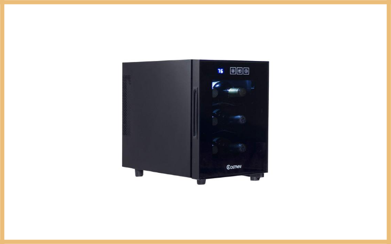 Costway Thermoelectric 6 Bottle Wine Cooler Freestanding Review