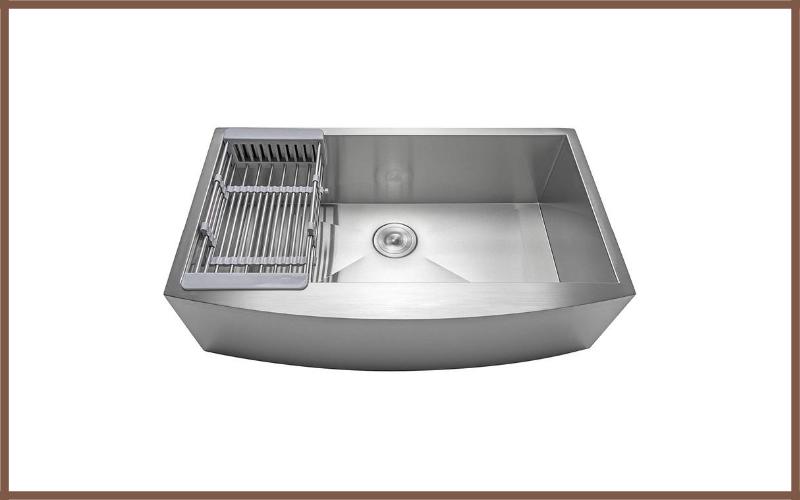 Firebird 33 X 22 X 9 Apron Farmhouse Handmade Stainless Steel Single Bowl Kitchen Sink Review