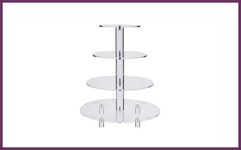 Four Tier Round Wedding Acrylic Cupcake Stand Tree Tower Cup Cake Display By Jusalpha Review
