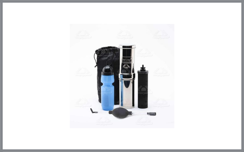 Go Berkey Kit Includes Stainless Steel Portable Water Filter System With Sport Berkey Water Bottle (Filter Included) And A Vinyl Black Carrying Case Review