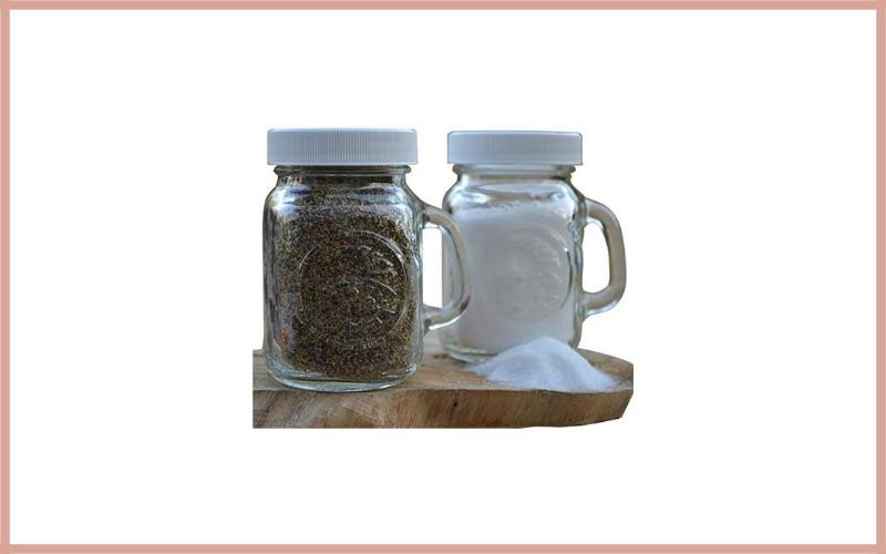 Golden Harvest, Ball Mason Jar Glass Salt And Pepper Shakers Set Review