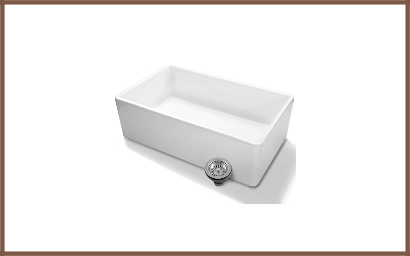 Luxury 30 Inch Pure Fireclay Modern Farmhouse Kitchen Sink By Fossil Blu Review