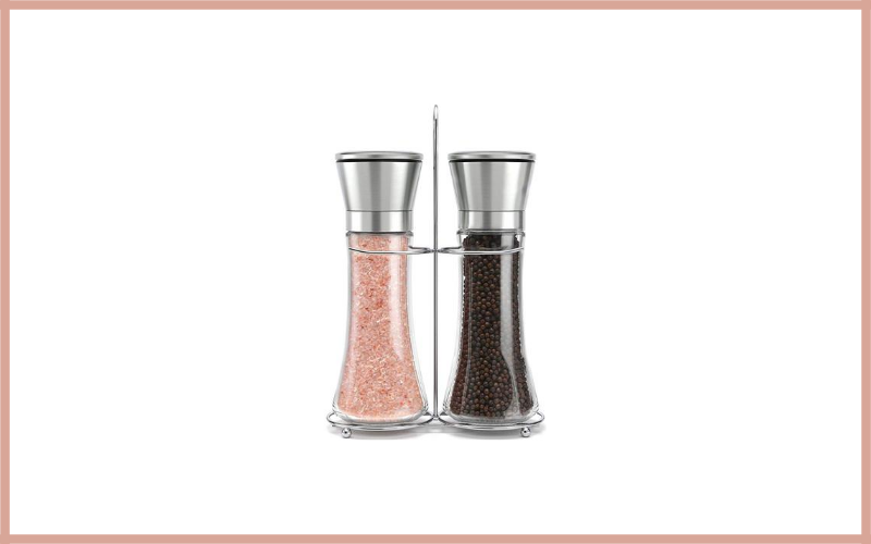 Premium Stainless Steel Salt And Pepper Grinder Set With Stand By Willow & Everett Review