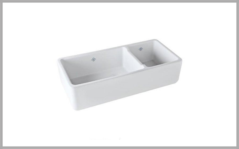 Rohl 39 12 Inch By 18 12 Inch By 10 Inch Deep Shaw's Rutherford Plain Apron Front Fireclay Kitchen Sink Review