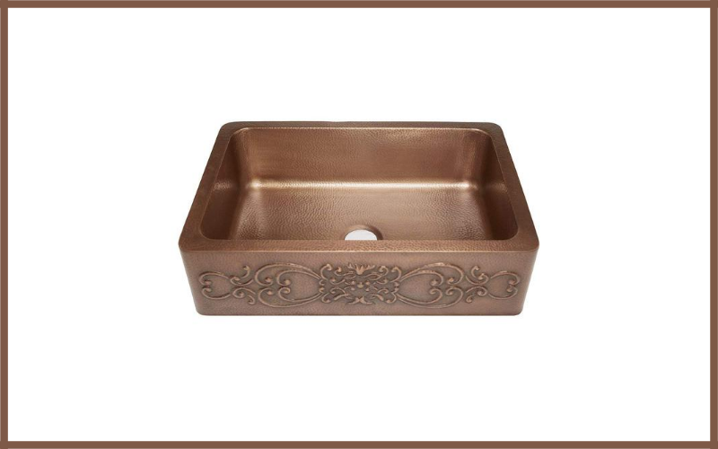 Sinkology Sk303 33sc Farmhouse Single Bowl Copper Kitchen Sink With Scroll Design Review