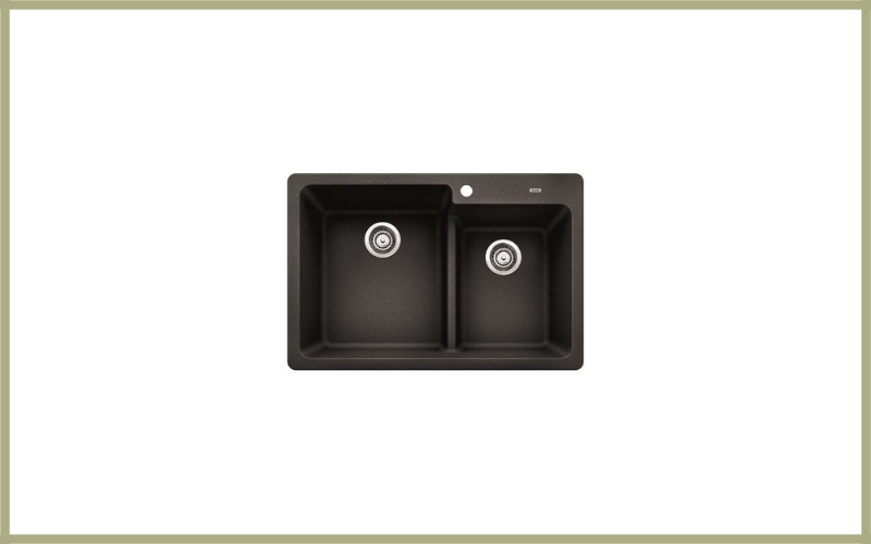 Blanco 441604 Grandis 33″ Double Basin Drop In Or Undermount Granite Composite Kitchen Sink With 6040 Split Review