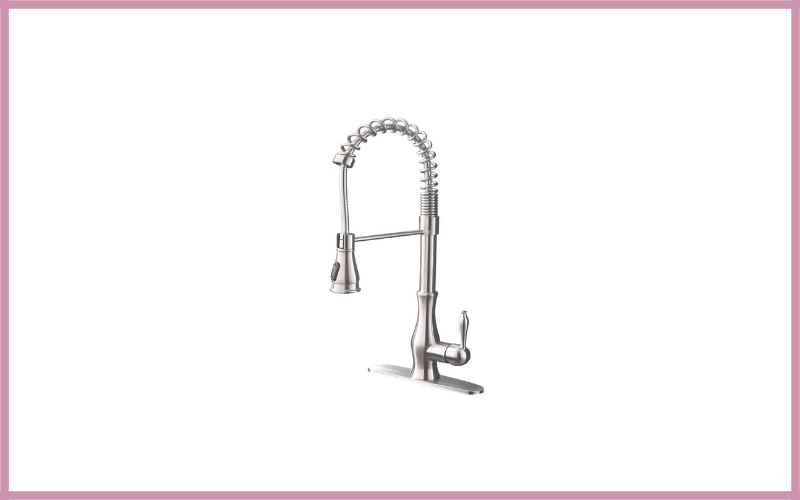 Bokalya Heavy Duty Single Handle Stainless Steel Farmhouse Pull Down Sprayer Kitchen Sink Faucet Review