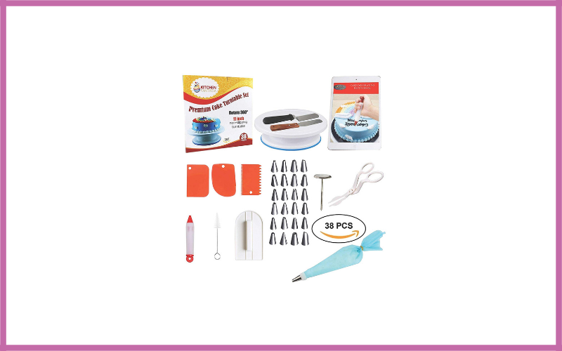 Cake Decorating Supplies Tools Kit For Beginners By Kitchen Fantasia Review