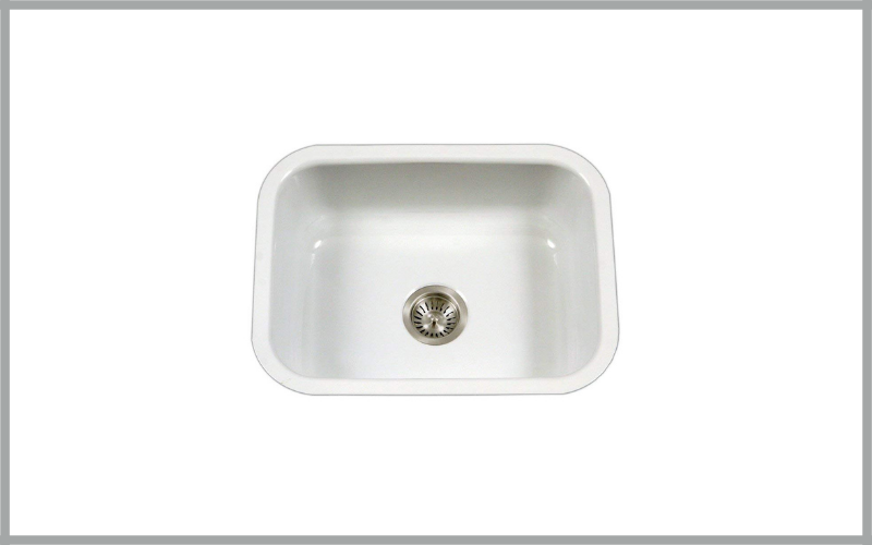 Houzer Pcs 2500 Wh Porcelain Series Porcelain Enamel Steel Undermount Single Bowl Kitchen Sink Review