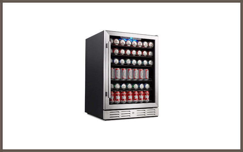 Kalamera 24 Inch Beverage Refrigerator 175 Can Built In Or Freestanding Single Zone Touch Control Review