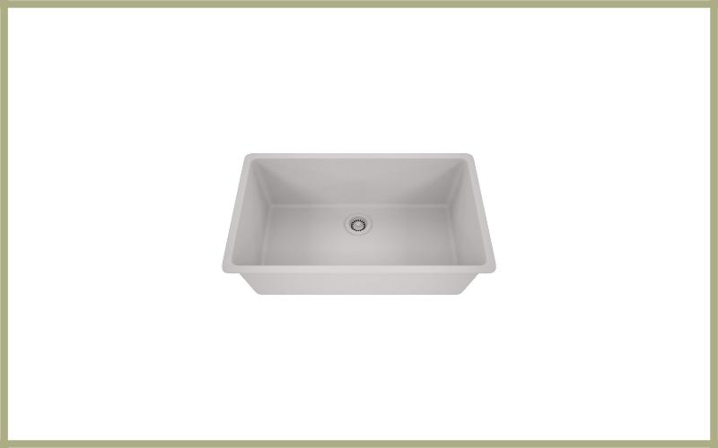 Lexicon Platinum Quartz Composite 32×19 Inch Kitchen Sink With Large Single Bowl White White Finish Review