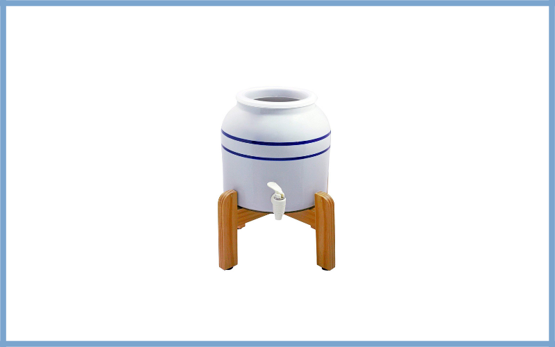 New Wave Enviro 796515300369 Bl2wstand Porcelain Dispenser With Wood Counter Stand Review