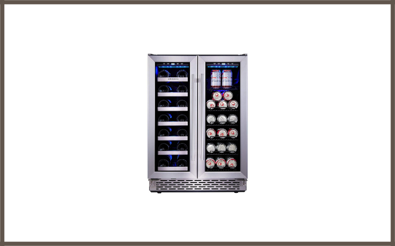 Phiestina Built In Dual Zone Wine And Beverage Cooler With Stainless Steel French Door Review