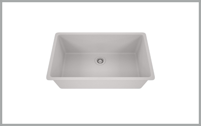 Platinum Quartz Composite 32×19 Inch Kitchen Sink With Large Single Bowl By Lexicon Review