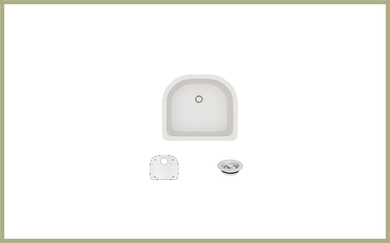 R3 1005 Ivory D Bowl Undermount Composite Granite Sink Review