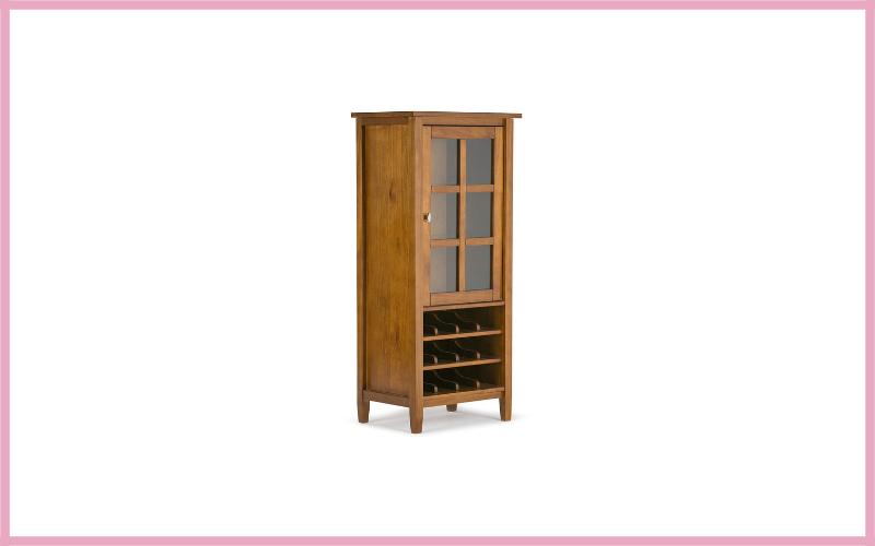 Simpli Home Warm Shaker Solid Wood High Storage Wine Rack Review