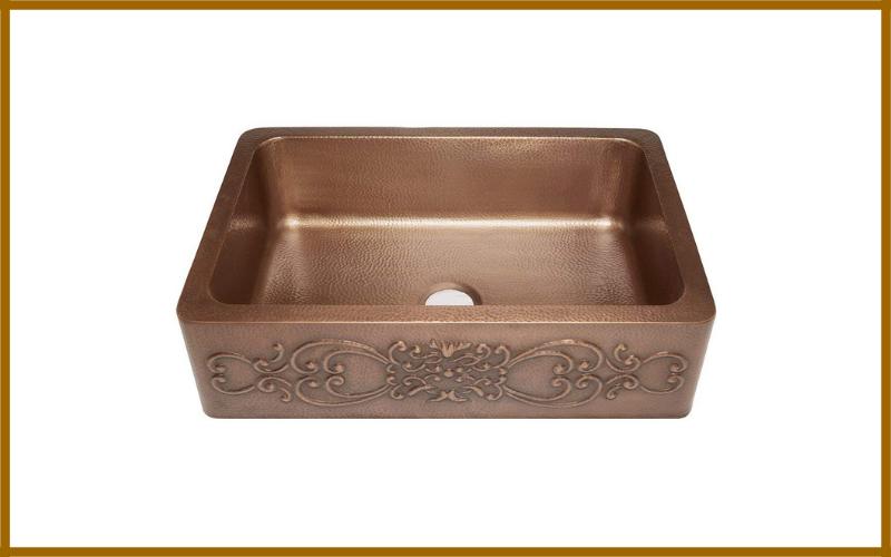 Sinkology Sk303 33sc Farmhouse Ganku Copper Sink With Scroll Design Review