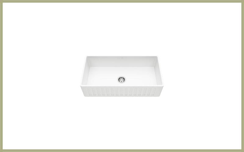 Vigo Vgra3618cs 36″ X 18″ X 9 58 Undermount Farmhouse Kitchen Sink, Composite Solid Surface Single Bowl Apron Front Review