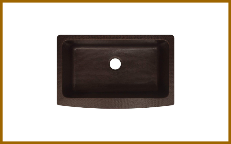 Zuhne Antica 33″ Farmhouse Apron Front Copper Kitchen Sink Single Bowl Review