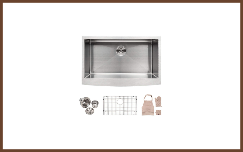 Apron Front 33 Inch Stainless Steel Undermount Kitchen Sink By Lordear Review