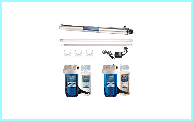 Bluonics 55w Uv Ultraviolet Light + Sediment & Carbon Well Water Filter Purifier System Review