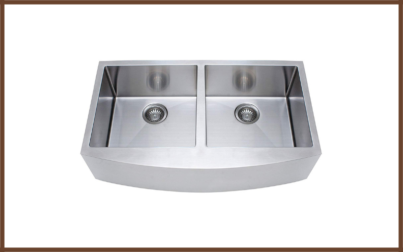 Franke Kinetic 33 Inch Apron Front Farmhouse Double Bowl Kitchen Sink Stainless Steel Review