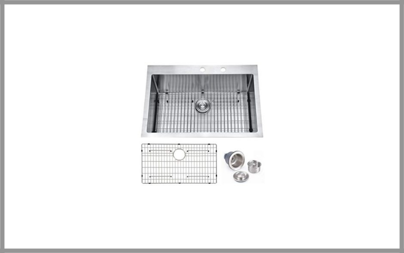 Friho 18 Gauge Commercial Large Drop In Single Bowl Basin Handmade Stainless Steel Kitchen Sink Review