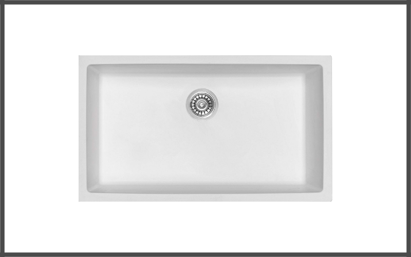 Hoch Int'l Imports, Ltd. G 3218s W, White Granite Composite Single Bowl Kitchen Sink Review