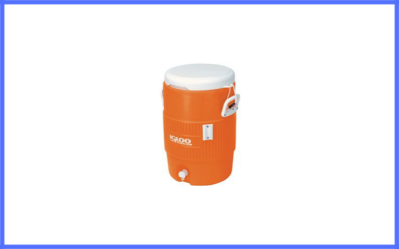 Igloo 5 Gallon Orange Cooler With Seat Lid Review