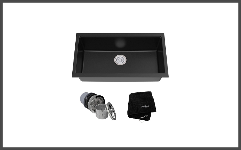 Kraus Kgu 413b 31 Inch Undermount Single Bowl Black Onyx Granite Kitchen Sink Review