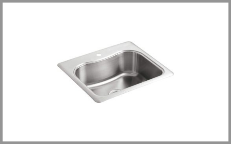 Staccato Single Basin Self Rimming Stainless Steel Kitchen Sink By Kohler Review