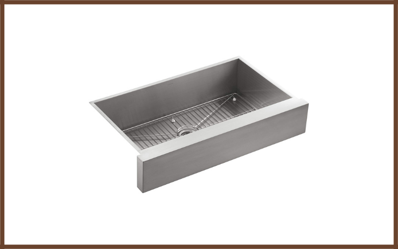 Undercounter Single Basin Stainless Steel Sink With Shortened Apron Front For 36 Inch Cabinet By Kohler Review